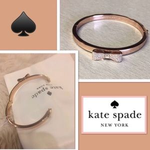 Kate Spade 12K Rose Gold Plated Bow Bracelet.